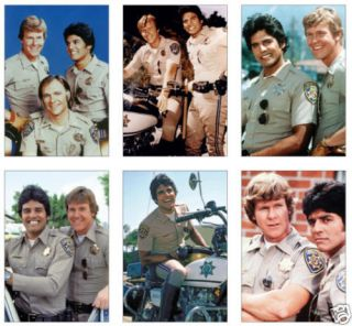 CHIPS California Highway Patrol POSTCARD Set
