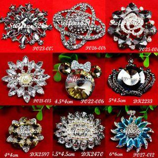 fashion trendy rhinestone flower brooch pins Jewelry Bridal/Wedding