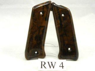Ruger 22 MK III II Pistol Grips Walnut Burl