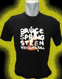 bruce springsteen wrecking ball T shirt size s m l xl new 2013 shirt