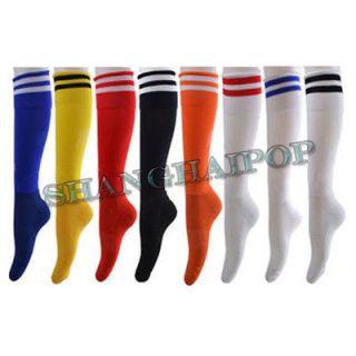 Football Soccer Socks Hockey Rugby Sports Stripes 8 Color Mens