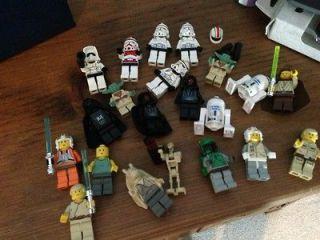 LOT OF 20 PLUS STAR WARS LEGO MINI FIGURES, RARE; READ DESCRIPTION