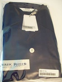 DEREK ROSE SAVILE ROW LONDON MENS PAJAMAS SET BLUE 2XL NWT IN PACKAGE
