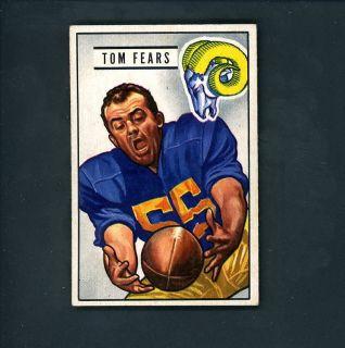 1951 Bowman # 6 Tom Fears Los Angeles Rams