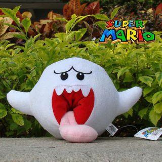 Super Mario Bros Plush Toy Boo Ghost 8.5 Nintendo Game Cute Stuffed