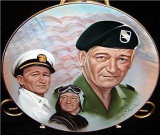 John Wayne Military Cassidy J. Alexander War 1983 Plate