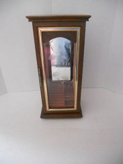 Beautiful wood Jewelry box/cabinet with etched glass panel door
