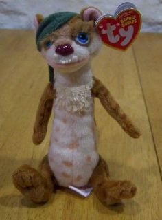 TY Ice Age 3 BUCK WEASEL 6 Plush Stuffed Animal NEW