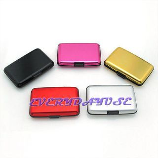 Color Waterproof Aluminum ID Credit Card Wallet Case Holder Hard