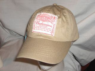 BUDWEISER BEER BALL CAP, HAT   BUD LABEL   #1277L