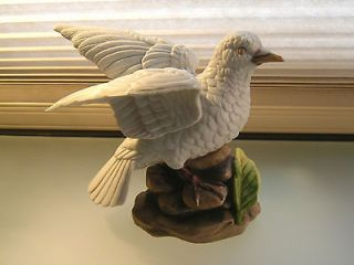 ROYAL CROWN White Bird or Dove Hand Painted Bisque Porcelain Figurine