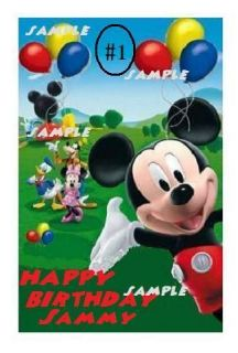 Mickey Mouse Clubhouse Edible Cake/Cupcake/C ookie Toppers