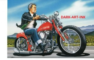 David Mann Art Motorcycle Poster Wine Country Print Easyriders Napa