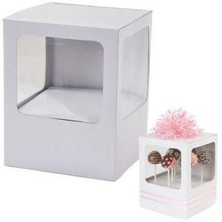 Wilton Cake Pop Party Shower Decorate Yourself Favor Gift Box Holds 8