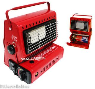Camping Heater Double Coherent Butane Gas Ceramic Burner Source Warmer