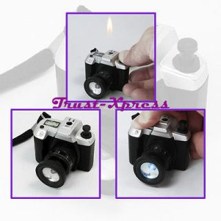 HUMOUR CAMERA SHAPED w/ LED LIGHT CIGAR CIGARETTE PIPE REFILLABLE