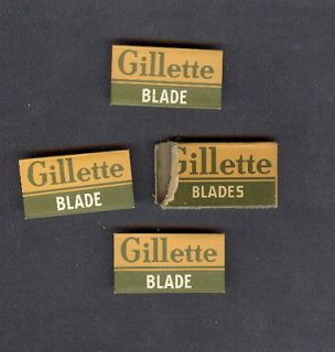 Newly listed WW 11~ CAMOFLAGE PACKAGE~GILLETTE~USED PACKAGE w/3