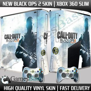 BLACK OPS 2 Xbox 360 SLIM Skin Stickers + 2 x Controller Skins, Call