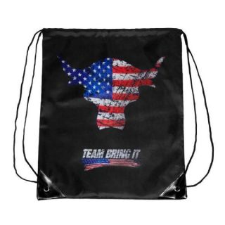 WWE THE ROCK TEAM BRING IT USA DRAWSTRING BAG OFFICIAL NEW