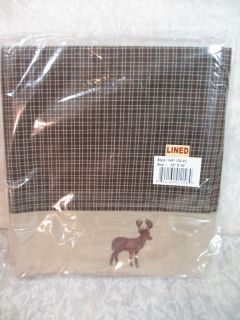 Curtain VALANCE 72 x 16 Brown Cabin Deer Buck Rustic Country IHF Home
