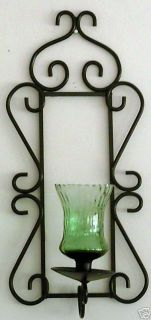 Home Interior Black Wrought Iron Sconce