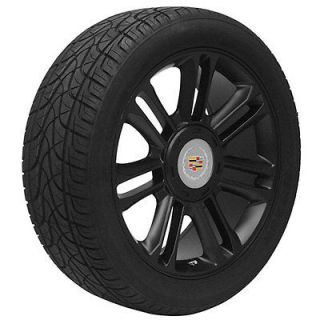 24 inch Cadillac Escalade platinum edition black wheels rims and