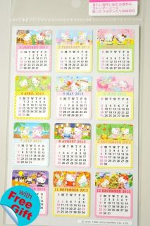 2013 Hello Kitty Calendar Stickers Sanrio H6001