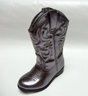 Candies Girls Toddler Pewter Cowboy Western Boots 6 7 8 NEW