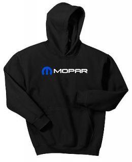 MOPAR HOODIE BLACK BLUE WHITE SWEAT SHIRT DODGE HEMI MUSCLE CAR PINK