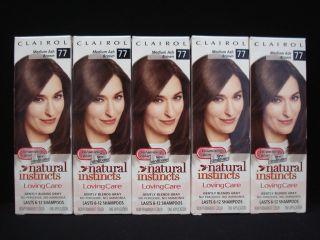 CLAIROL Natural Instincts Loving Care Hair Color Medium Ash Brown # 77