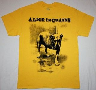 ALICE IN CHAINS DOG GRUNGE SOUNDGARDEN MOTHER LOVE BONE L7 NEW YELLOW