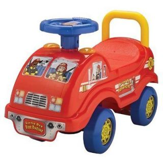 Red Fire TRUCK Engine Activity Ride On ELECTRONIC LIGHTS AND SOUNDS