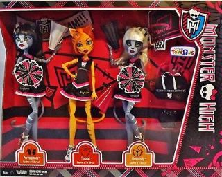Monster High FEAR SQUAD 3 Doll Set CHEERLEADERS FEARLEADING Toralei