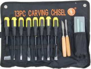 13 Piece Wood Carving Chisel Set