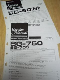 Service Manual~SG 750/ 705/50(M) Graphic Equalizer~Orig inal~Repair