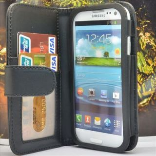 Wallet PU Leather Case Flip Cover FOR SAMSUNG Galaxy S3 i9300 S III