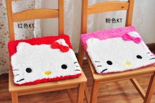 Cute Hello Kitty Face Auto Car Office Chair plush Cushion 2pcs