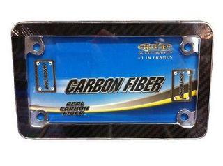 New Carbon Fiber Super Motorcycle Bike License Plates Frame Harley