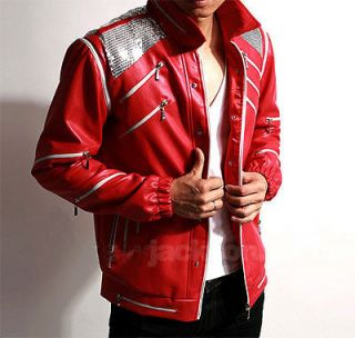 Michael Jackson Beat It Jacket with 26 Zippers MJ Costume replica