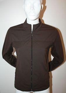 TUFF ATHLETICS Womens Brown Yoga Jacket Size Medium