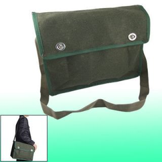 Nylon Strap 2 Pockets Electrician Canvas Bag Tool Holder Army Green