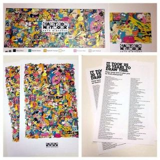 2x CARTOON NETWORK 20th Birthday LIMITED EDITION POSTER SDCC 2012 BOGO