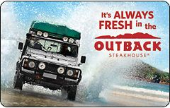 Outback Steakhouse Gift Card $25   $50