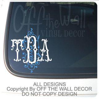 Custom Monogram Name Vinyl Decal Wall Stickers Letters Words Teen Room