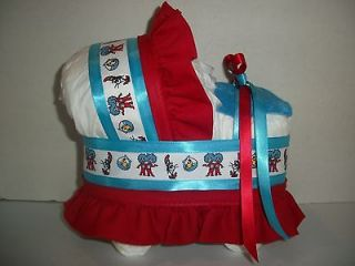 IN THE HAT BOY GIRL NEUTRAL DIAPER BASSINET BABY SHOWER CENTERPIECE