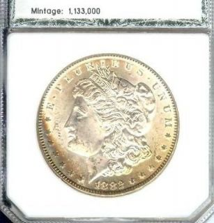 1882 CC MORGAN SILVER $ DOLLAR   CARSON CITY   MINT STATE COIN