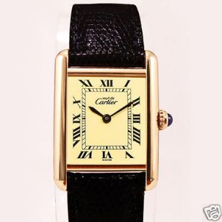 Cartier Authentic Cartier Ladies Tank Watch with Red Presentation Box