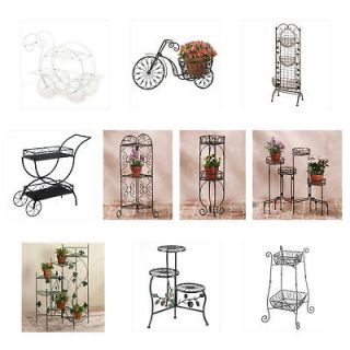 METAL Plant Stand Planter Cart Basket Staircase Bicycle