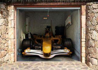 GARAGE DOOR BILLBOARD COVER STICKER VEHICLE RACING CAR 9,02x8,04 FEET