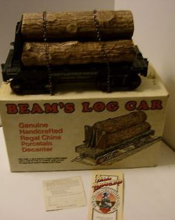 Jim Beam Train Log Car Decanter by Regal China without box